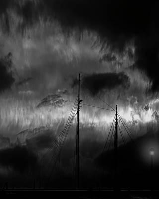Photograph - Nighttime On The Docks by Bob Orsillo