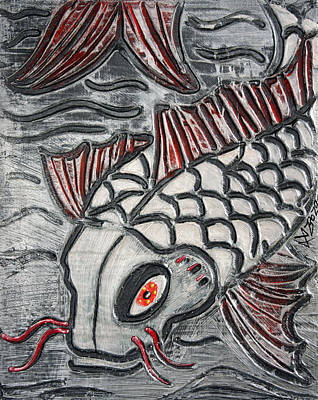 Koi Mixed Media - Niigata Koi by Laura Barbosa