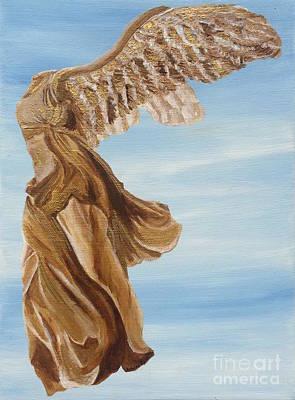 Nike Goddess Of Victory Print by Ashley Baldwin