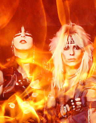 Nikki And Vince Motley Crue Print by Rob Nasty