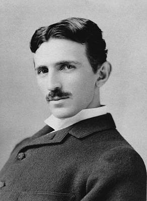 Physicist Photograph - Nikola Tesla - Circa 1890 by War Is Hell Store