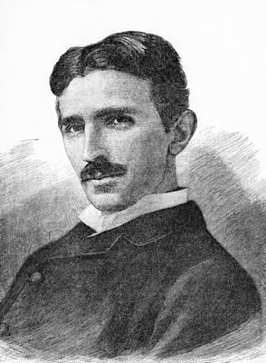Tesla Photograph - Nikola Tesla, Serb-us Physicist by