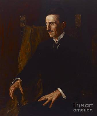Scientists Painting - Nikola Tesla by Vilma Lwoff-Parlaghy