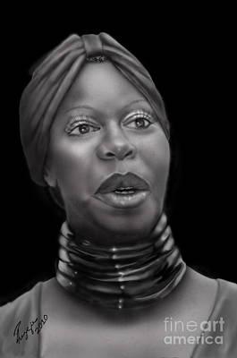 African American Painting - Nina Simone-revolution by Reggie Duffie