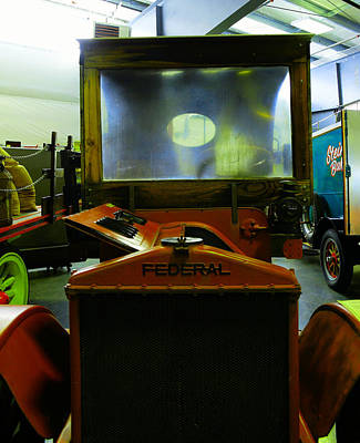 Relic Glass Photograph - Nineten Seventeen Federal Flat Bed Truck by Jeff Swan