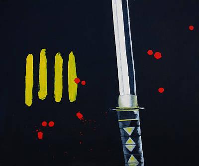 Tarantino Film Painting - Ninja by Barbara Teller