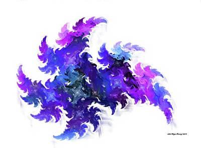 Ninja Warrior Shooting Star Print by Wayne Bonney