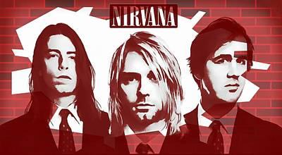 Nirvana Tribute Print by Dan Sproul