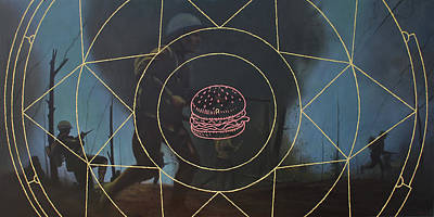 Hamburger Painting - Nk Nuclear Core High Explosive by Marcial Pontillas