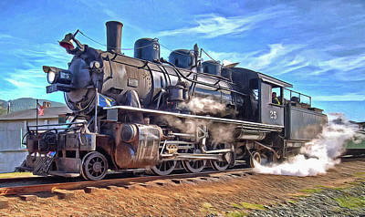 Locomotive Photograph - No. 25 Steam Locomotive by Thom Zehrfeld