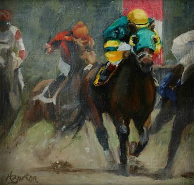 Heather Burton Painting - No. 6 To Win by Heather Burton