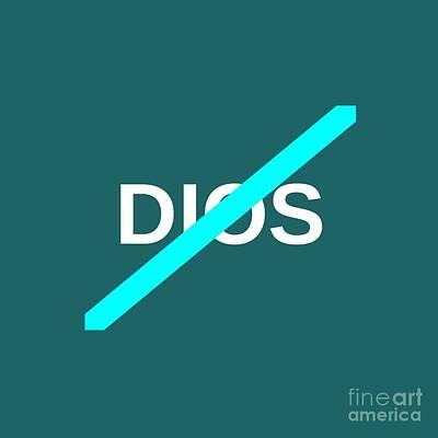 No Dios Symbol Original by Frederick Holiday
