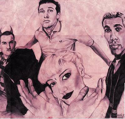 Gwen Stefani Drawing - No Doubt by Brian Child