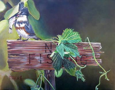 No Fishing Print by Marilyn  McNish