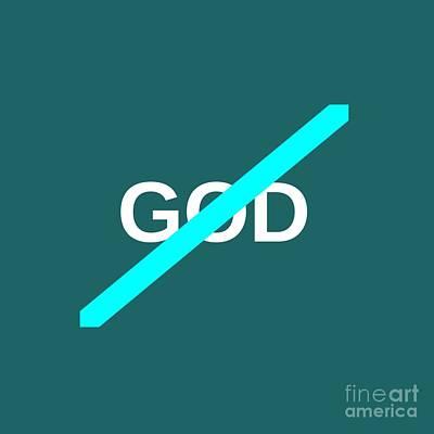 No God Symbol Original by Frederick Holiday