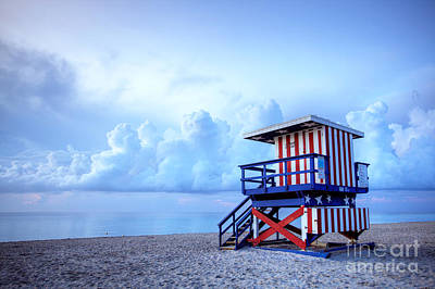 Huts Photograph - No Lifeguard On Duty by Martin Williams