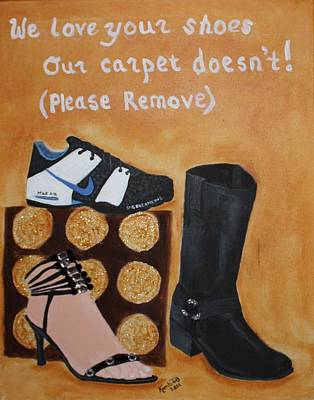 No Shoes Print by Kimber  Butler