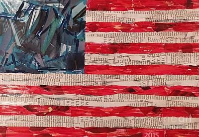 No Stars And Stripes Original by Tracey Thornton