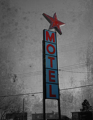 No Tell Motel Print by JC Photography and Art