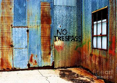 No Trespass Print by Ronnie Glover