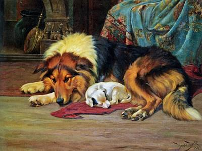 Wright Barker Painting - No Walk Today  by Wright Barker