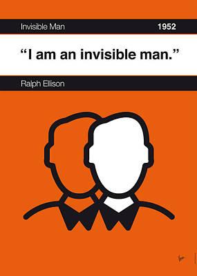 Library Digital Art - No010-my-invisible Man-book-icon-poster by Chungkong Art