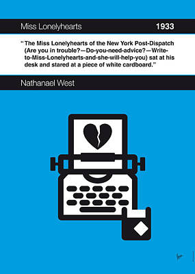Library Digital Art - No011-my-miss Lonelyhearts-book-icon-poster by Chungkong Art