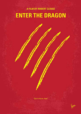 Dragon Digital Art - No026 My Enter The Dragon Minimal Movie Poster by Chungkong Art