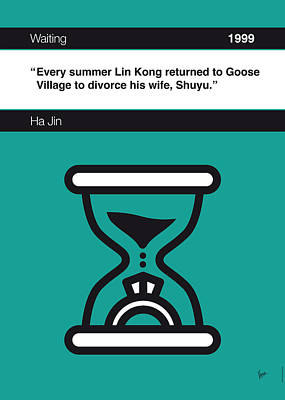 Library Digital Art - No029-my-waiting-book-icon-poster by Chungkong Art