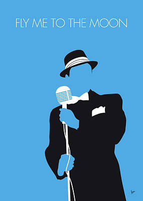 New Artist Digital Art - No059 My Sinatra Minimal Music Poster by Chungkong Art