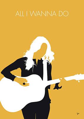Crow Digital Art - No074 My Sheryl Crow Minimal Music Poster by Chungkong Art