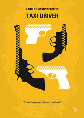 Driver Digital Art - No087 My Taxi Driver Minimal Movie Poster by Chungkong Art