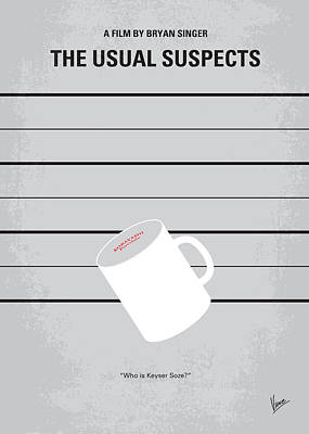 Fan Art Digital Art - No095 My The Usual Suspects Minimal Movie Poster by Chungkong Art