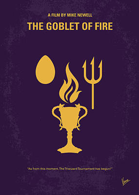 No101-4 My Hp - Goblet Of Fire Minimal Movie Poster Print by Chungkong Art