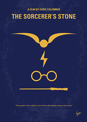 Minimal Digital Art - No101 My Harry Potter Minimal Movie Poster by Chungkong Art