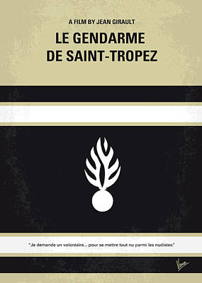 No186 My Le Gendarme De Saint-tropez Minimal Movie Poster Print by Chungkong Art