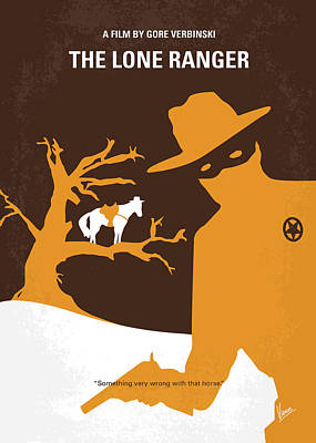 Lone Digital Art - No202 My The Lone Ranger Minimal Movie Poster by Chungkong Art