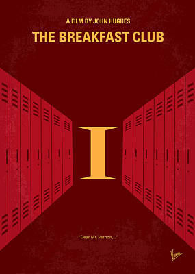 Ideas Digital Art - No309 My The Breakfast Club Minimal Movie Poster by Chungkong Art