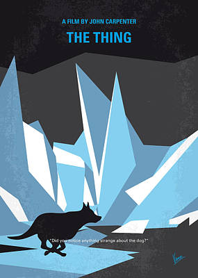 Scientists Digital Art - No466 My The Thing Minimal Movie Poster by Chungkong Art