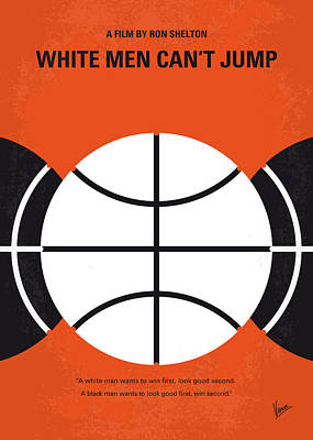 Basketball Digital Art - No436 My White Men Cant Jump Minimal Movie Poster by Chungkong Art