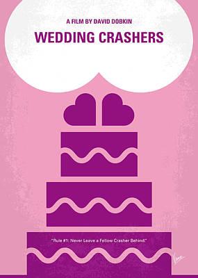 No437 My Wedding Crashers Minimal Movie Poster Print by Chungkong Art