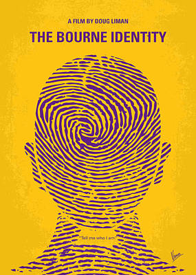 Swiss Digital Art - No439 My The Bourne Identity Minimal Movie Poster by Chungkong Art