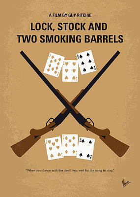 No441 My Lock Stock And Two Smoking Barrels Minimal Movie Poster Print by Chungkong Art