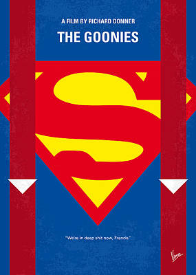No456 My The Goonies Minimal Movie Poster Print by Chungkong Art