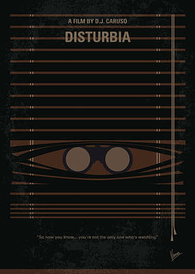 No457 My Disturbia Minimal Movie Poster Print by Chungkong Art