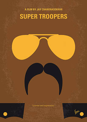 No459 My Super Troopers Minimal Movie Poster Print by Chungkong Art