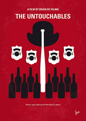 Mob Digital Art - No463 My The Untouchables Minimal Movie Poster by Chungkong Art