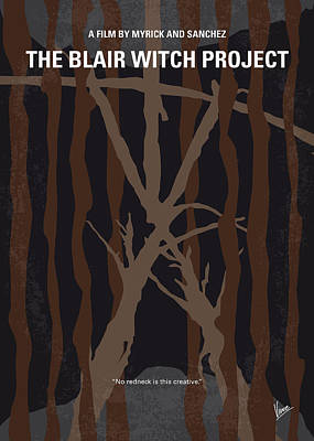 Black Digital Art - No476 My The Blair Witch Project Minimal Movie Poster by Chungkong Art