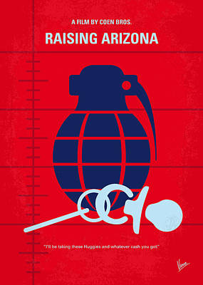 Raising Digital Art - No477 My Raising Arizona Minimal Movie Poster by Chungkong Art
