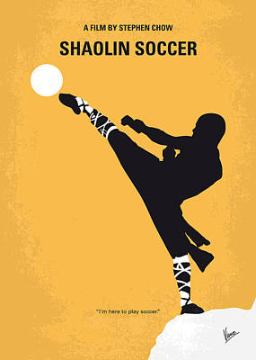 Soccer Digital Art - No480 My Shaolin Soccer Minimal Movie Poster by Chungkong Art